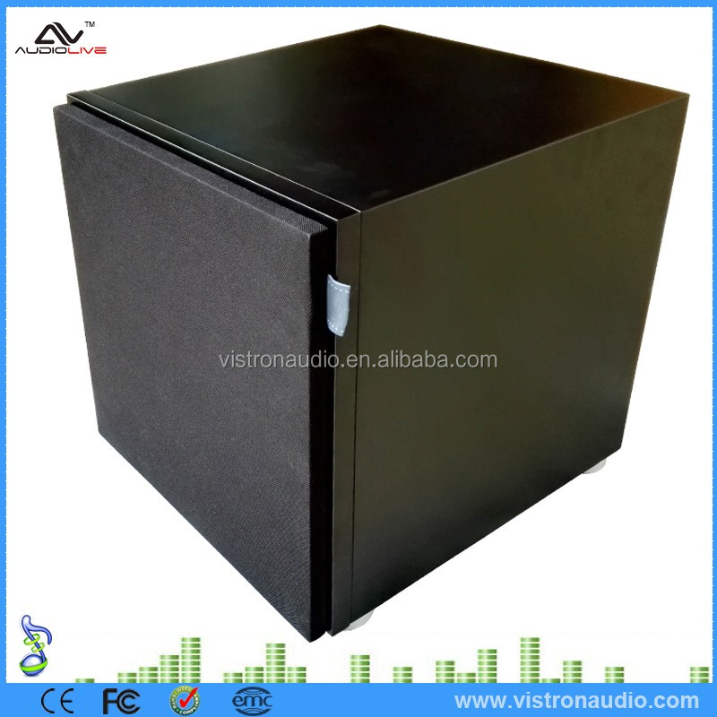 Smart Home Audio 10 Inch MDF Wooden Powered Subwoofer