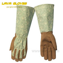 Long Sleeve Synthetic Leather ladies Garden Gloves