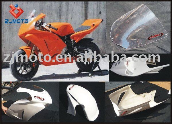 FRP Motorcycle Bodywork Fairing For NSF100 2006 FRP Racing Fairing Body Kits MiniGP Cover Windscreen(HRH)