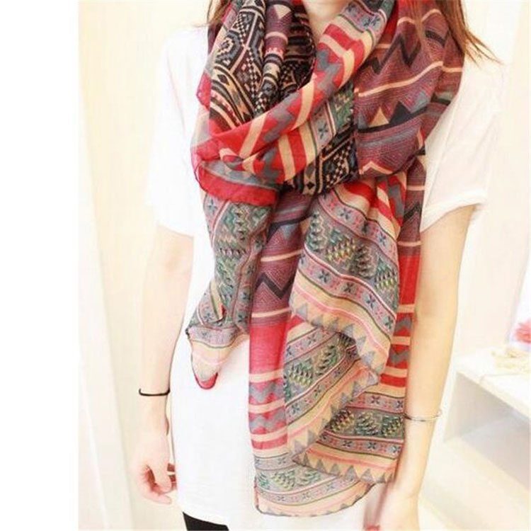 New Fashion Trendy Women Long Bohemian Print Wrap Shawl <strong>Scarf</strong> Ladies Big Girl <strong>Scarf</strong> Tole Styles Z0101