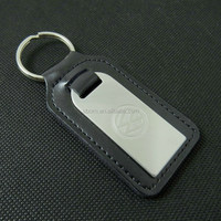 new fashion custom logo leather keychain with car brand logo