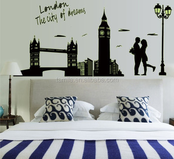 Home Decorative London Twin Bridge Night Glowing sticker