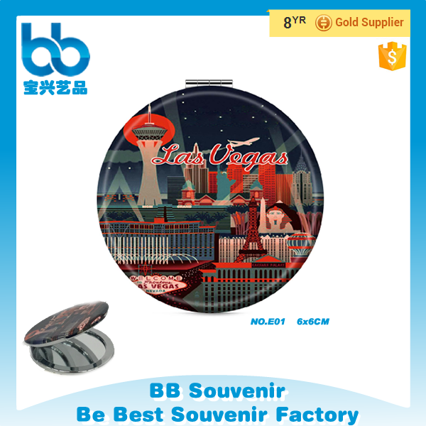 Wholesale Pocket Cheap Souvenir Mirror