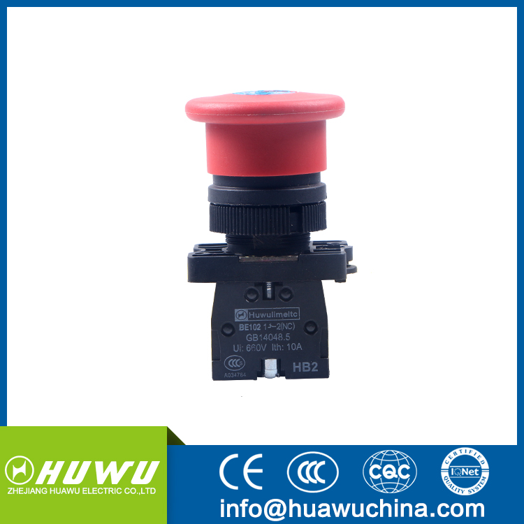 HUAWU XB2-ES142 SELF Release emergency key push button switch mushroom push button switch with key