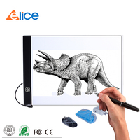 2017 A4 LED drawing copy board LED tracing light box,LED magic light writing board