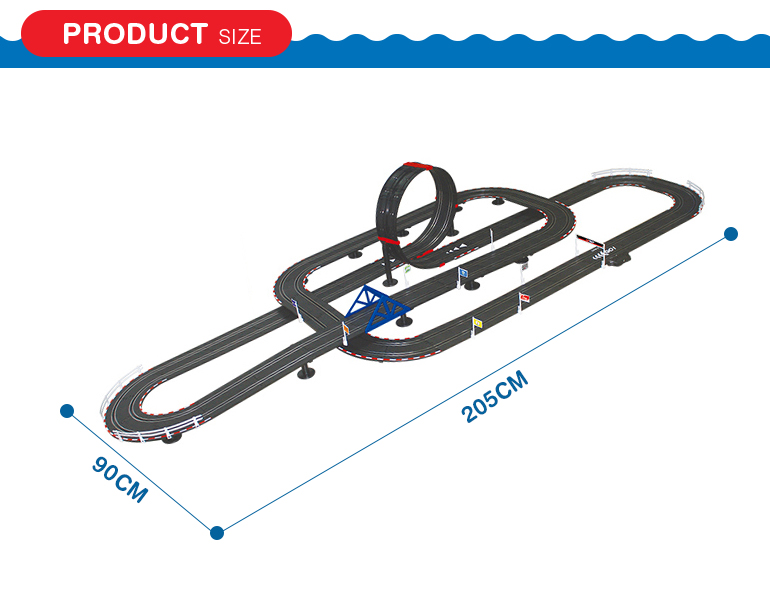 Cool most popular diy race track 1:43 scale electric car track toy for children gift