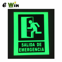Luminous Fire Safety Sign/ Photoluminescent Glow Emergency Exit Sign