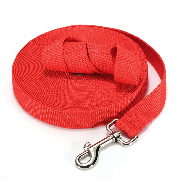 30ft/9m Long Red Nylon Pet Puppy Dog Training Walk Walking Obedience Lead Leash