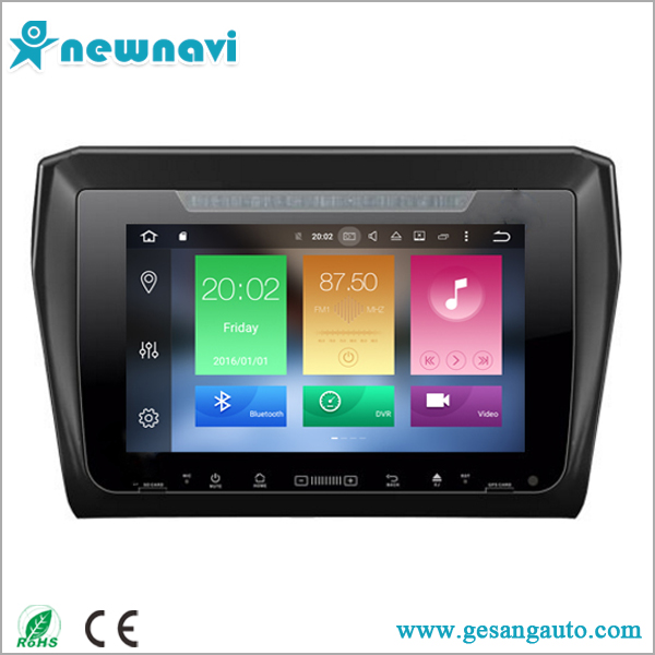 New Arrival!Car video entertainment navigation system android 6.0 car dvd player with gps navigation for Suzuki Swift 2017