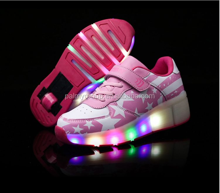 Children Skate kids Sneakers led shoes heely roller shoes for kids