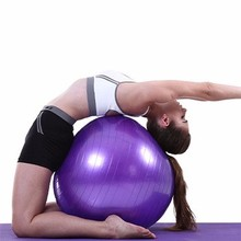 Anti-stress Inflatable Excercise Fitness Soft Yoga Ball wholesale