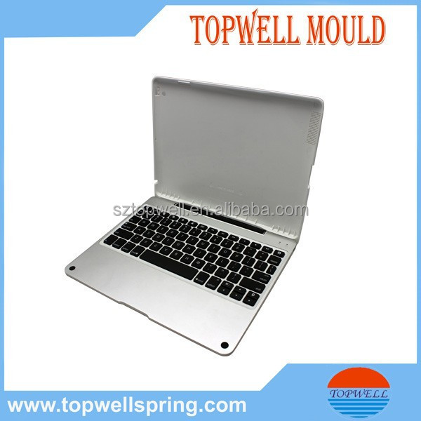high precision plastic injection molded ipad case with keyboard by trade assurance supplier