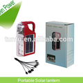 High lumen 120lm/w Red and green Solar LED lantern with 1w solar panel