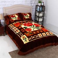 HOT! Factory direct sale luxury bedding set,full size blanket with Korean style.