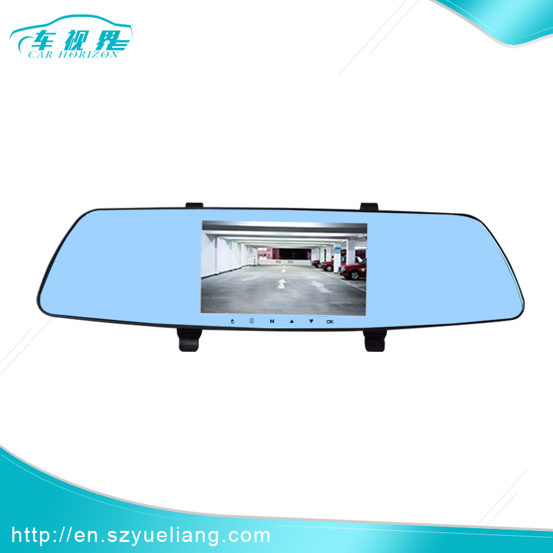 Industrial High Brightness promotional 5 inch gpscar rearview mirror camera dvr
