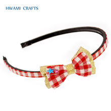 new golden ribbon colorful hair band for girl P-59