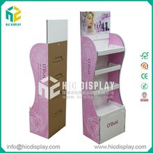 HIC cardboard floor display cosmetic case, displays yes love cosmetics