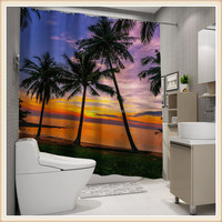 New beautiful latest design digital printing european shower curtain