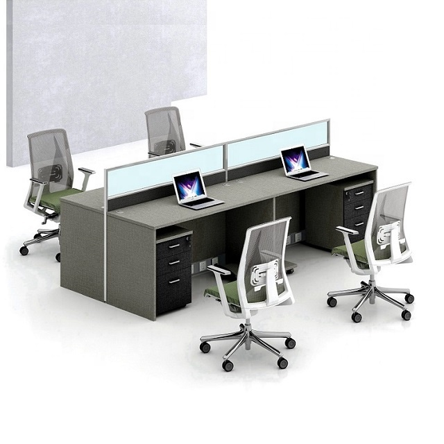 Cheap Office Workstation for 4 People with 6 years Warranty