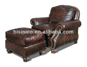 Comfortable single sofa chair,high quality sofa chair with taboret,luxury home furniure (BF01-20126)