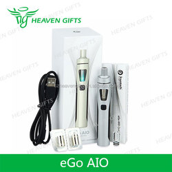 Newest e cigarette 2ml 1500mAh ego aio 1500mah battery