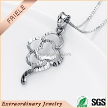 Flower shaped Plain silver 925 Sterling Silver Jewelry Pendant China Wholesale