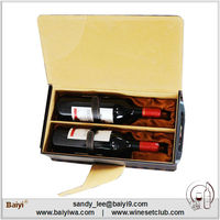 Factory Supplying Portable Wooden Boxes for Wine Bottles
