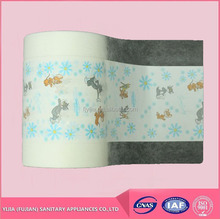 Printed Polyethylene film Pe film for baby diaper from China manufacturer