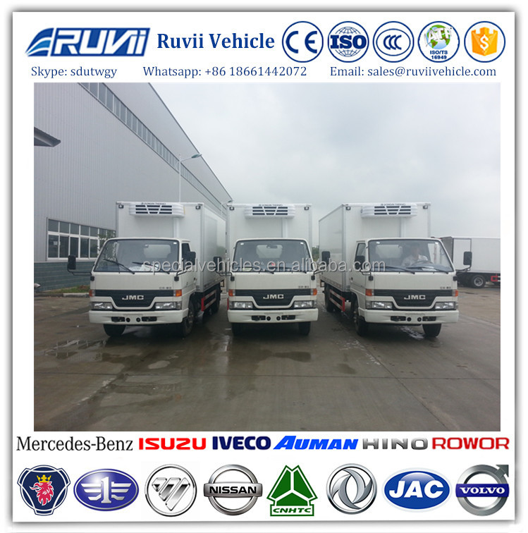 Fresh vegetable refrigerated Cooling truck ice cream transportation refrigerator van truck for sale