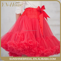 2016 Chiffon Fluffy Pettiskirts Tutu Princess Party Skirts Baby Girls Ballet Dance Wear Kids Petticoat Clothes