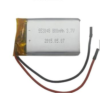 size 553048 3.7v 800mah li-polymer lipo battery with PCM Li-polymer