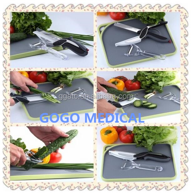 Most cheapest multifunction vegetable 2 in 1/ 3 in 1 cutter kitchen scissors