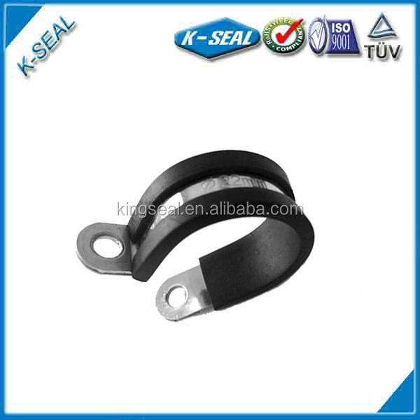 P rubber coated pipe retaining ring clips