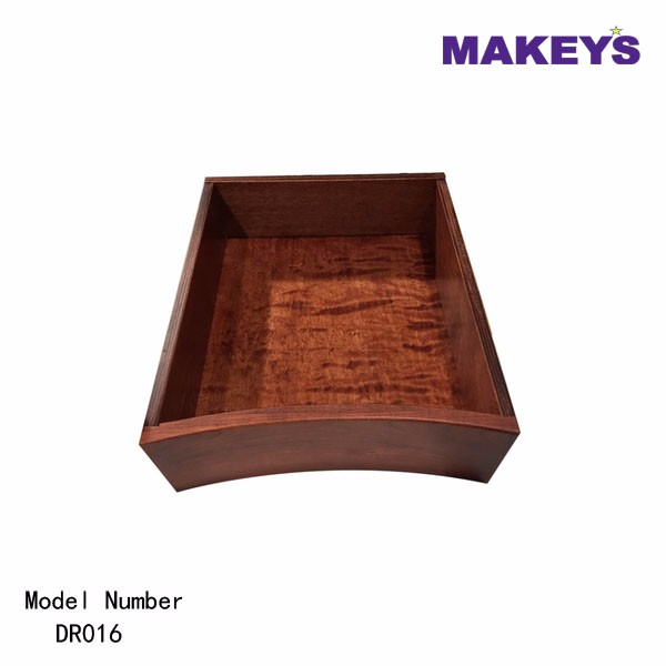 Makey's Curved Front Concave Dovetail Wood Mini Drawer