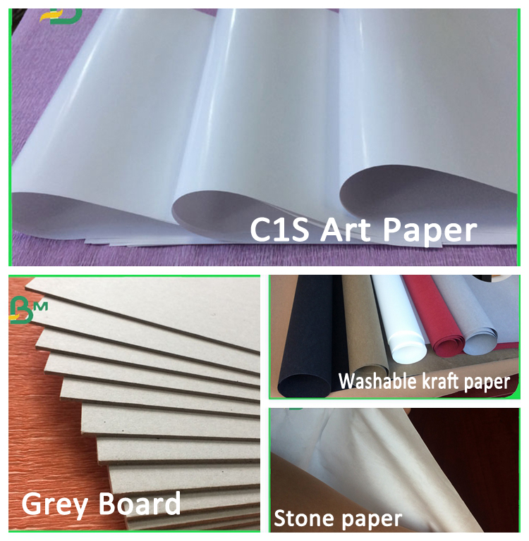 Customized size glossy and smooth coated art paper for gift packing wrapping