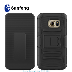 Belt clip case for samsung S7 cover with holster,pc silicone hard shell for samsung galaxy S7