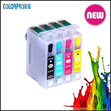 Refillable ink cartridge for epson t13/t10/ t11 , T0731N- T0734N ink cartridge for epson tx121