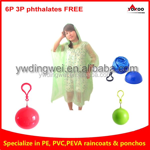 Custom Printed Disposable Ball Poncho for promotion