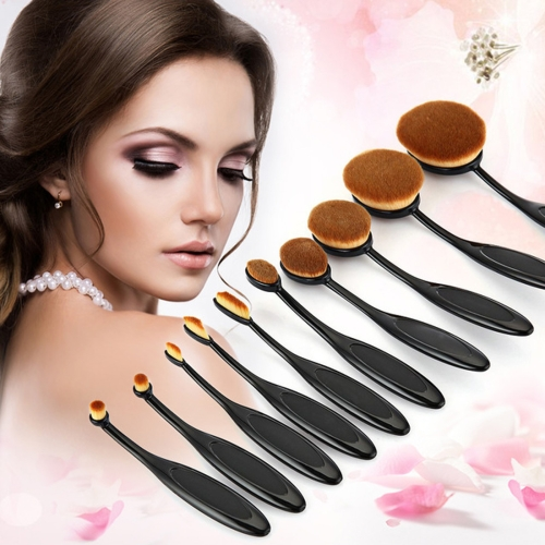 dropshipping wholesale 10 PCS Toothbrush Style Handle Makeup Brushes Eyebrow Brush Makeup Tools Set Kit