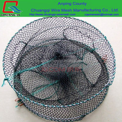 Folding crab trap / Crab Crayfish Lobster Shrimp Trap Nets with 8m length