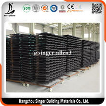 1340x420mm Cheap building materials red stone coated roof tiles from china