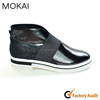 MK031-14 new arrival black flat shoes women leather casual shoes