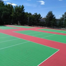 Portable Colorful Sports Flooring For Volleyball Court