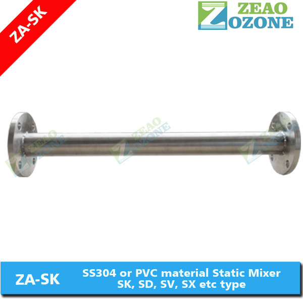 Good Efficiency SS304 Static Mixer for Mixing Ozone Into Water