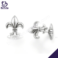 china cheap men's suit jewelry silver or brass cufflink