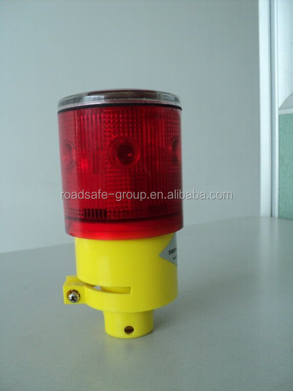 360 degreed red and amber solar traffic cone light