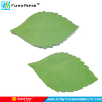Hot Selling Fun Green Leaf Shaped Sticky Note Memo Pad