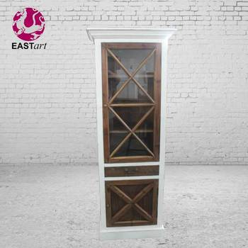 European style furniture wooden furniture The glass door locker cabinet
