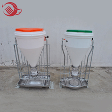 Automatic plastic stainless dry-wet water feeder for pig