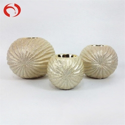 Factory price ceramic container porcelain jar menorah candle holder